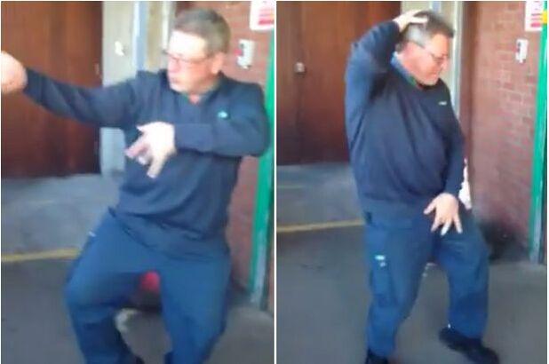 """【举世网归纳报导】据英国《镜报》5月2日报导,克日,""""脸谱""""网上一段邮寄员舞蹈送报的视频爆红,点击率高达1.8万次。视频中,爱尔兰邮寄员迪克兰・邓菲(Declan Dunphy)用""""太空步""""送报上门,构思有限。"""