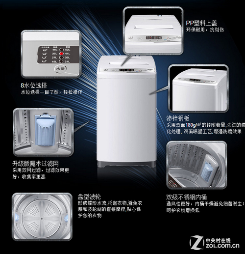 海尔XQB60-M1269洗衣机外观及内部细节展示