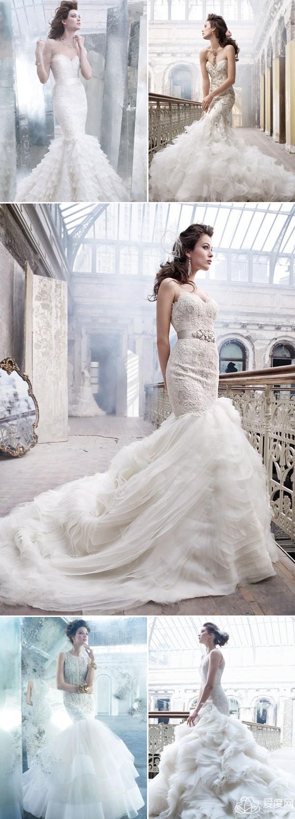 让以下出自于各国际才华设计师之手的鱼尾婚纱,带给你最时尚性感的图片