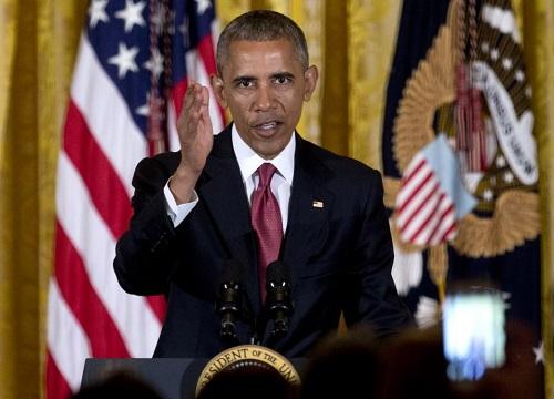 """美国总统奥巴马5月5日在白宫举行的""""5月5日节""""活动上讲话。最新民调显示,共和党选民也希望维持奥巴马的推迟递解移民政策实质不变。"""