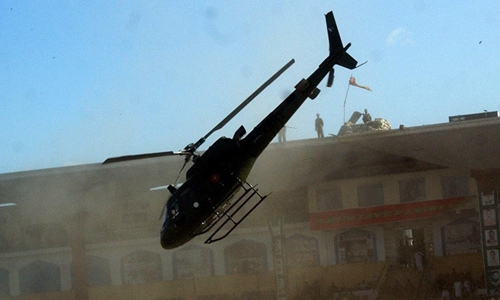 载多国大使的直升机在巴基斯坦坠毁。巴基斯坦《黎明报》