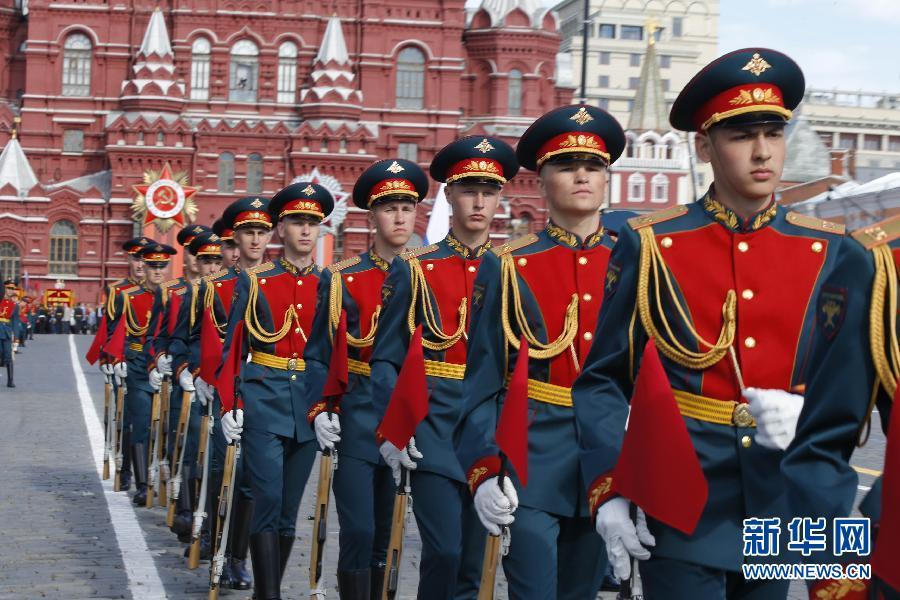 俄罗斯纪念卫国战争胜利70周年阅兵式正式开