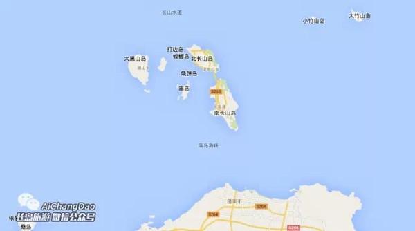 蓬莱长岛百度地图