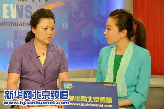 北京市医院管理局副局长吕一平在访谈现场。新华网北京频道发,骆璐摄