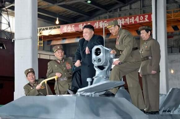 资料图:朝鲜最高领导人金正恩视察朝鲜人民军第1501部队.-卫星拍图片
