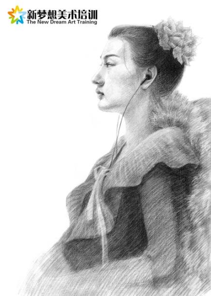 高考美术素描半身像的绘画技巧