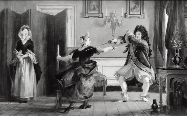 莫里哀的喜剧《小资产阶级绅士》插图(Le Bourgeois Gentilhomme,by Charles Robert Leslie, 1841)