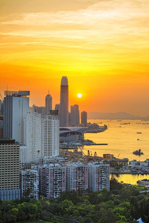 璀璨的东方明珠香港图片