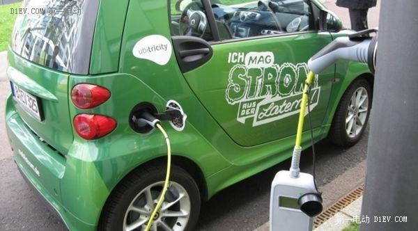 新能源汽车充电新构思 有路必有充电桩高清图片