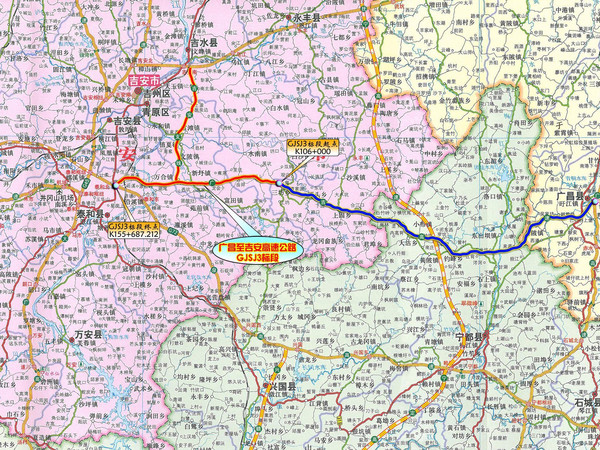 广昌至吉安高速公路路线图图片