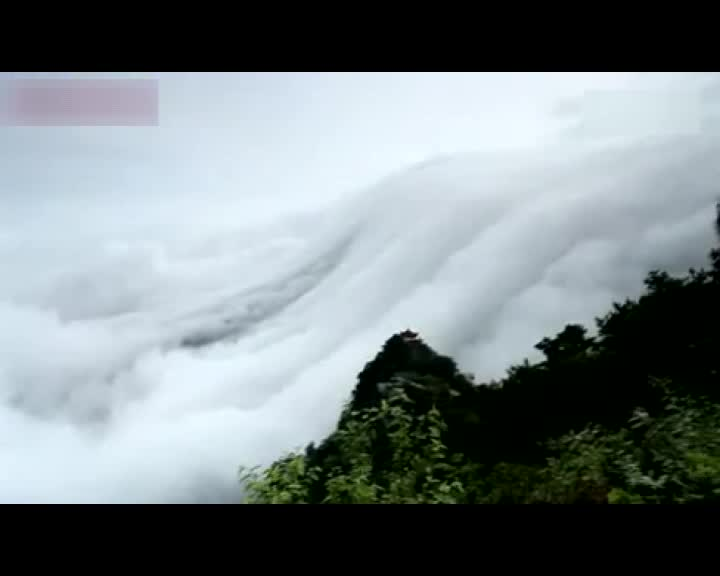 剑三庐山云雺#-_实拍江西庐山现壮观瀑布云引大批游客参观-搜狐视频