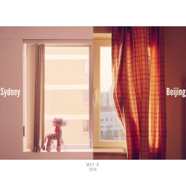 悉尼北京双重生活照!为这对闺蜜的创意才气点赞!