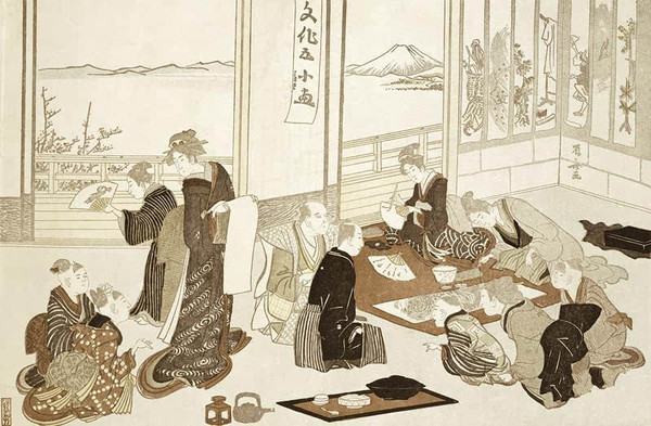 家人新年团聚时喝茶聚餐的情景-魏晋逸风 文人与禅家,生活与修行 图片