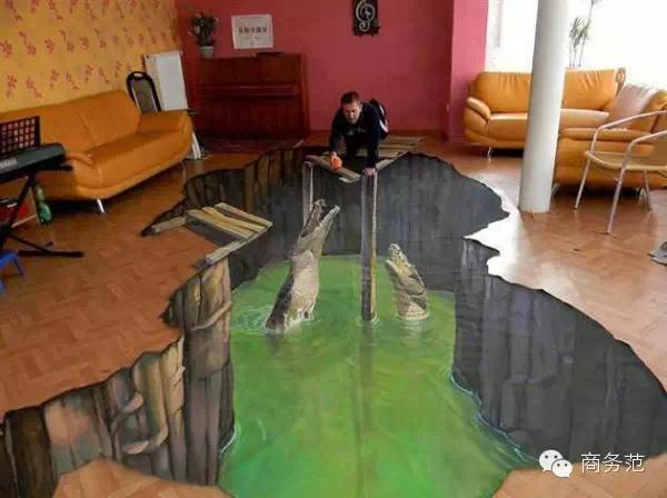 迪拜土豪的3D地板,让你从床上滚到天堂