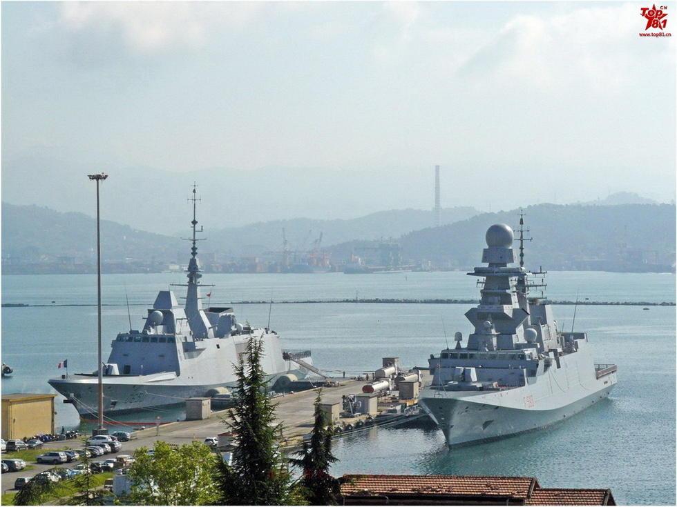 图为意大利第四艘fremm护卫舰