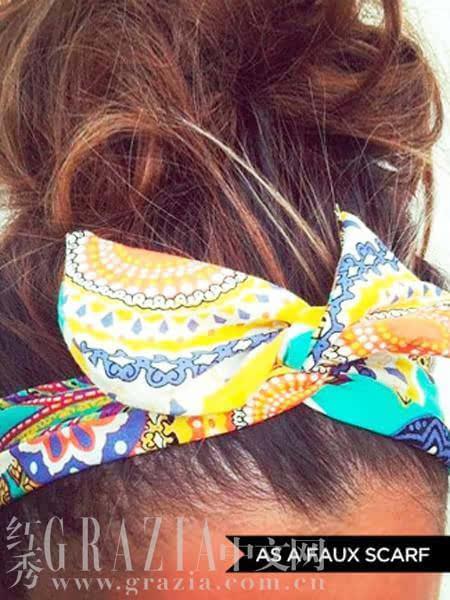 一秒变时髦 发带的十三种佩戴法