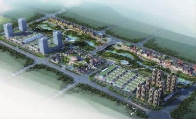 金桥国际市场集群月亮河两岸规划效果图
