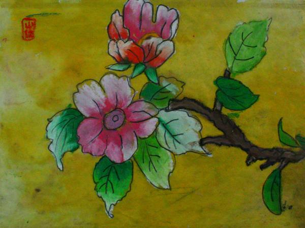 装饰画装饰画就是让幼儿用简单的花纹