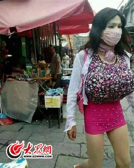 滕州女子曾屡次假装成男子被网友拍下相片