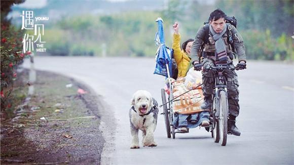 身行囊,丁一舟骑着自行车拉着轮椅上的赖敏出发-带着轮椅上的绝症图片