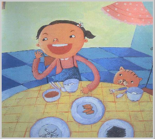 宝宝吃饭这件事,是如贾乃亮甜馨父女萌萌哒