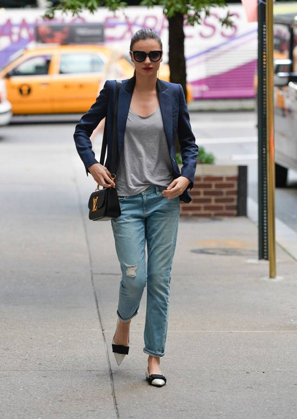 米兰达 可儿街拍告诉你 怎么穿对丹宁