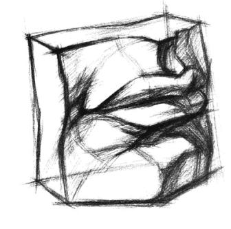 素描入门 石膏五官的画法教程图片