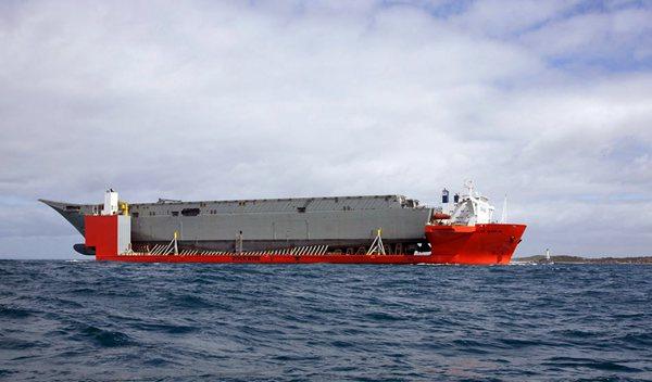中國海軍半潛船疑首次曝光 可在南海執法(圖)