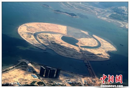 """探访建设中的""""双鱼岛"""":绿色·低碳·生态之岛(图)"""