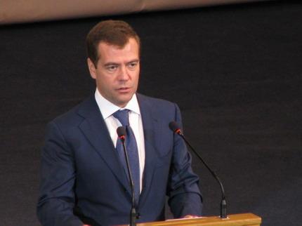 资料图:俄罗斯总理梅德韦杰夫。