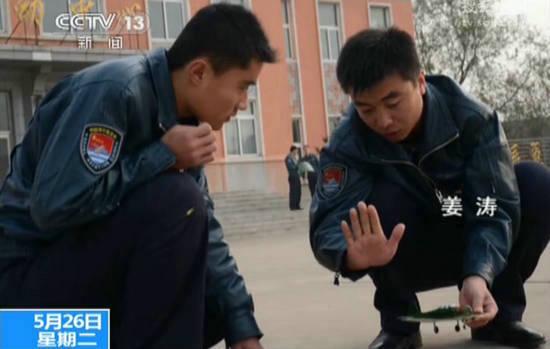 视频截图:牺牲的飞行员姜涛。