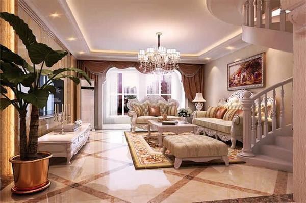 108平米两居室欧式风格装修实景图!图片