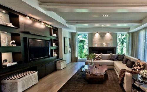 电视墙装修设计 打造时尚家居客厅(组图)