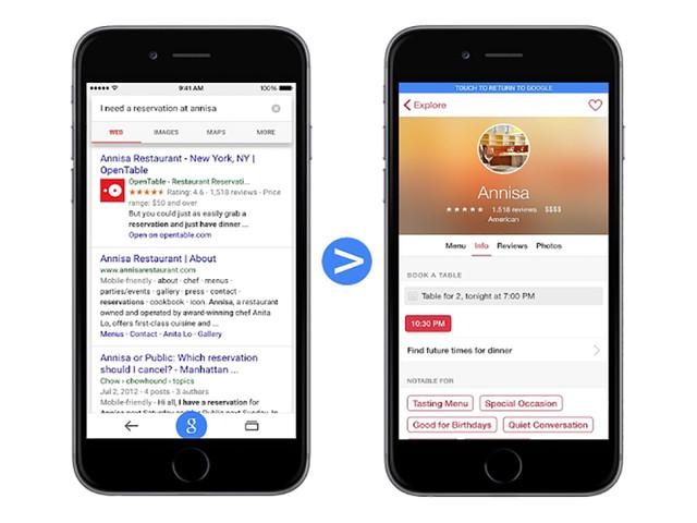 谷歌搜索将在iOS设备搜索时列出相关app