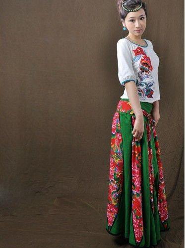 东北大花布衣服_能与东北大花布有一拼的,也只有日本花魁风和服了