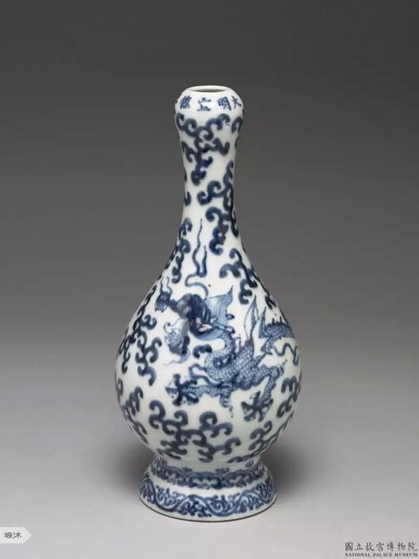 宋代青花蒜头瓶_蒜头瓶 -- 国立故宫博物院珍贵藏品