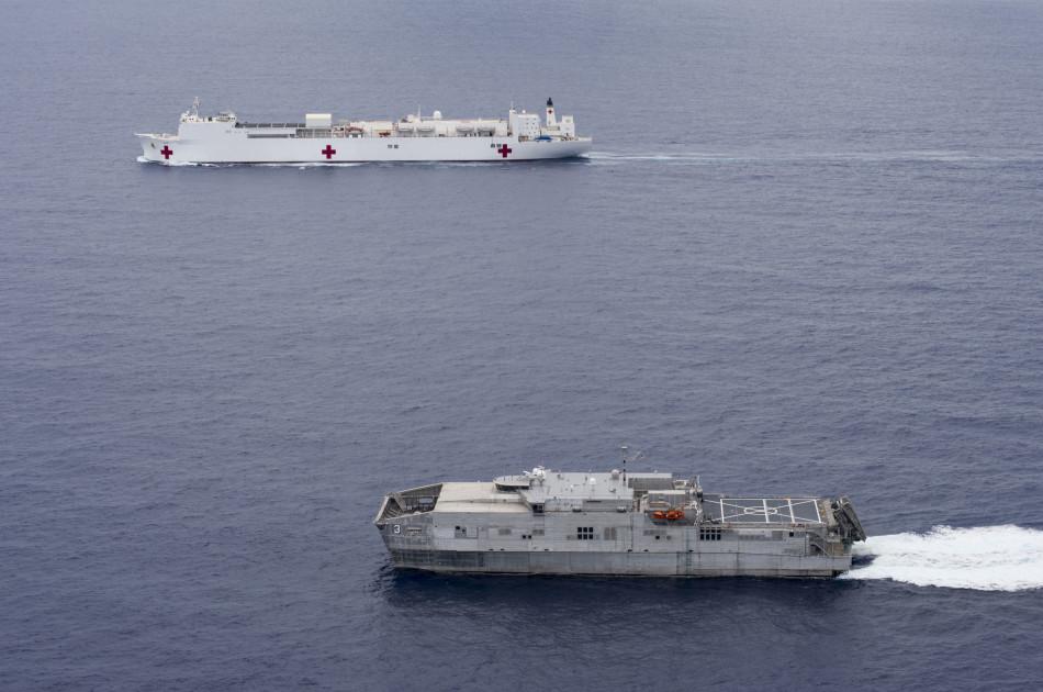 美军船只怀疑被撞沉