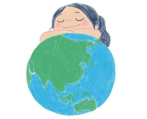 保護地球環境的畫報