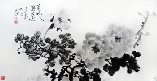 立春手绘百花图片