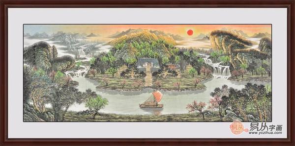 欧式客厅挂什么画 易从山水画帮您选客厅挂画