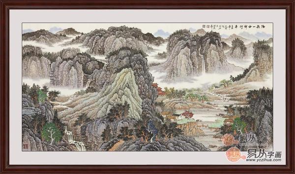 中国国画青绿山水画之国画大师吴大恺作品欣赏