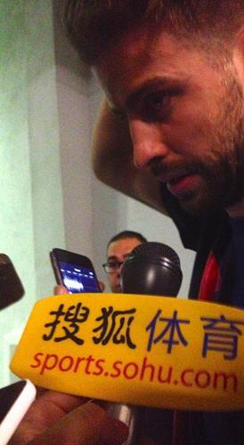搜狐记者采访皮克