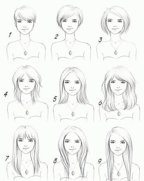 手绘服装头发教程