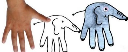 巧用手指画出百种动物 so easy图片