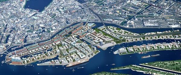 最后,也是最重要的部分:公共空间的设计。整个海港城有近10公里的滨水岸线,需要丰富多样的滨水空间。这些公共空间禁止车行,用完善的自行车和步行系统进行连接。目的是要让水的优势充分体现,让居民充分享受滨水空间。   海港城的开发过程   除了空间规划的特色,Ruurd先生还着重介绍了海港城的发展过程。整个项目几十年的发展,由HafenCity Hamburg GmbH来主导和协调,这是一个拥有私人公司效率的公共机构,算是一个第三方独立机构。这个机构不仅负责所有地块的开发,也负责所有的基础设施、交通设施和公