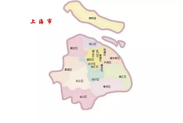 """上一张上海地图作为参照: """"空气地图""""中深 蓝色代表空气最清新的区域"""