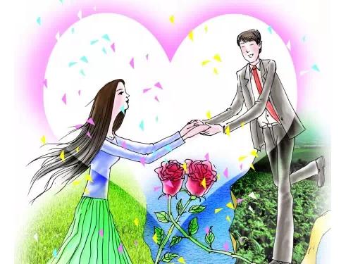 古代美女结婚漫画图片手绘