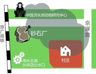 砂石厂碎石机厂房间隔京广高铁只要20米摆布 摄/法制晚报暗访组