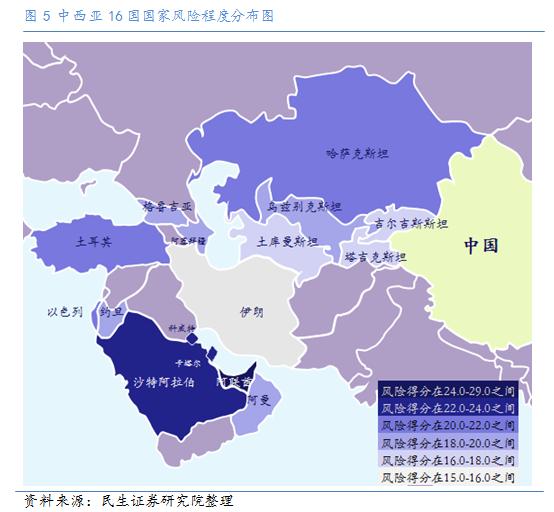 """""""一带一路""""雷区:中亚-西亚经济走廊高危国家图片"""