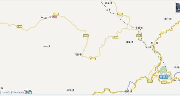 大显殿在安溪地图的位置